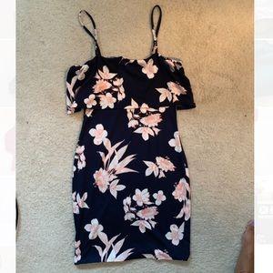 Ruffled Bodycon Floral Dress